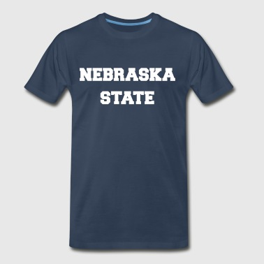 nebraska state - Men's Premium T-Shirt