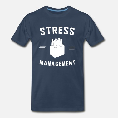 6 Pack Beer - Stress Management - Men's Premium T-Shirt