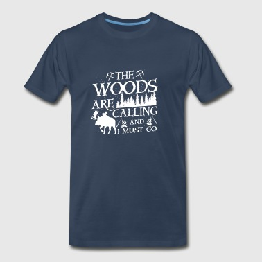 The woods are calling - Men's Premium T-Shirt