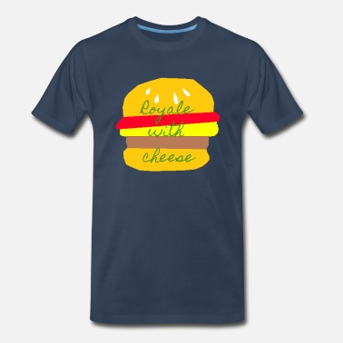 Pulp Fiction Quotes Royale With Cheese - Pulp Fiction - Men's Premium T-Shirt