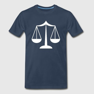 Lawyer Scale Lawyer Law Scales Silhouette - Men's Premium T-Shirt