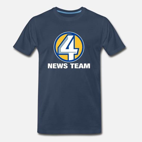 Channel T-Shirts - Channel 4 - Men's Premium T-Shirt navy