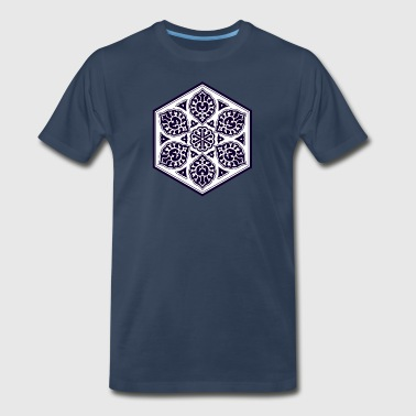 Ottoman turkish blue ware rosette design - Men's Premium T-Shirt