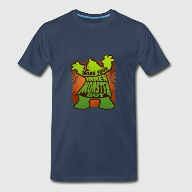 Awesome October Funny Bring Your Inner Monster Out - Men's Premium T-Shirt