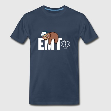 For Nursing School EMT Sloth Gift - Men's Premium T-Shirt