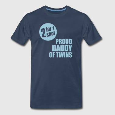 2for1 proud daddy of twins - Men's Premium T-Shirt
