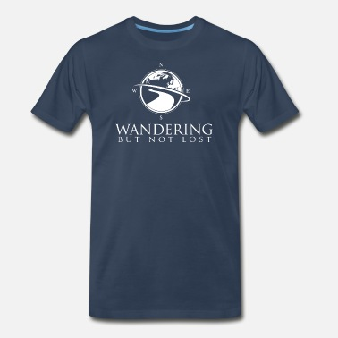 Lost Logo Wandering But Not Lost Logo T - Men's Premium T-Shirt