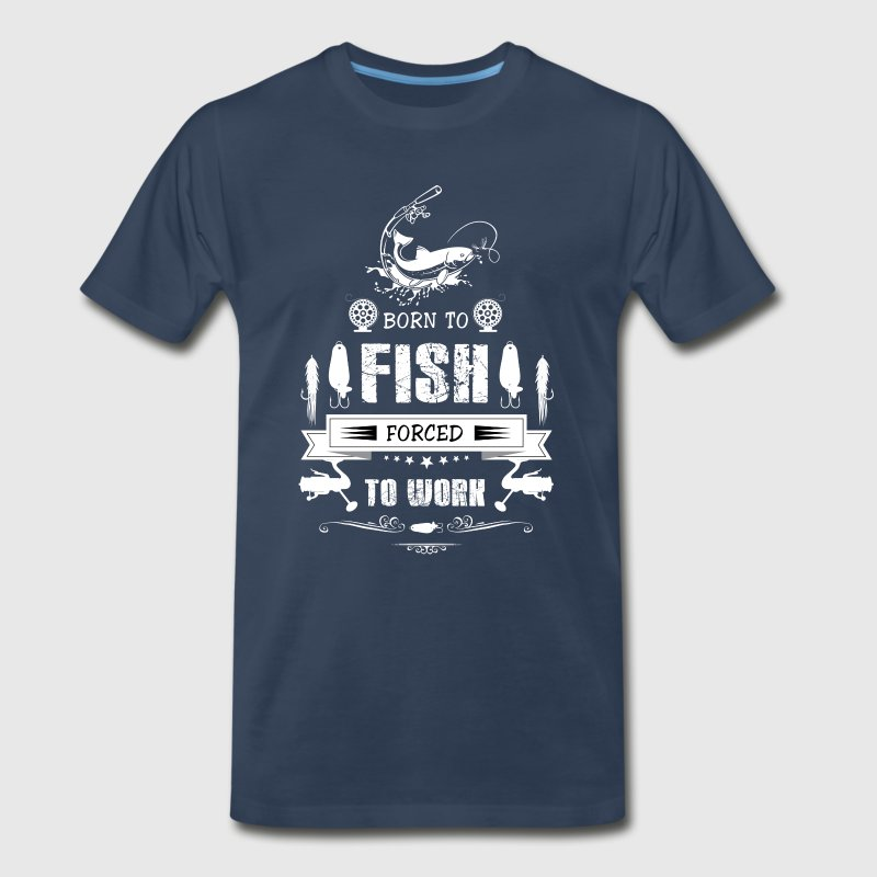 Fisher! Angler! Hooker! funny! Birthday! Fishing! - Men's Premium T-Shirt