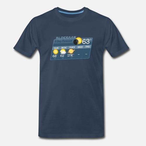 513b123db STAR WARS ALDERAAN 5 DAY WEATHER FORECAST Men's Premium T-Shirt ...