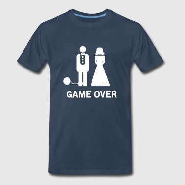 Wedding. Game Over Ball and Chain - Men's Premium T-Shirt