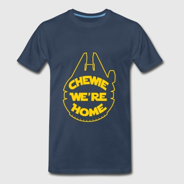 Chewie, we're home-falcon - Men's Premium T-Shirt