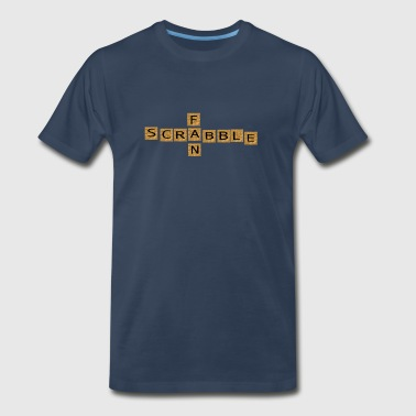 wordtease SCRABBLE FAN games brownz - Men's Premium T-Shirt
