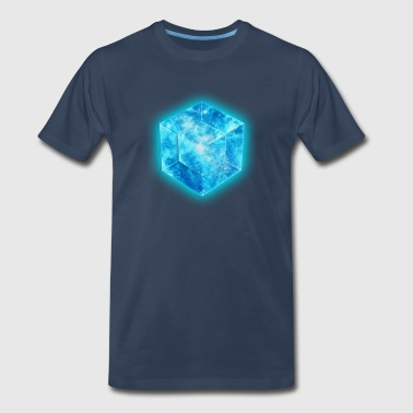 Hypercube 4D - TESSERACT , digital, Symbol - Dimensional Shift, Metatrons Cube,  - Men's Premium T-Shirt