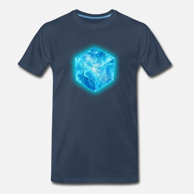 Hypercube Hypercube 4D - TESSERACT , digital, Symbol - Dimensional Shift, Metatrons Cube,  - Men's Premium T-Shirt
