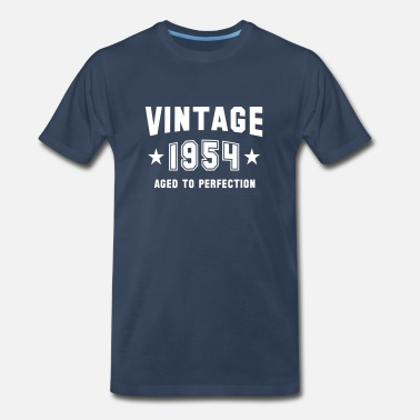 1954 VINTAGE 1954 - Aged To Perfection - Birthday - Men's Premium T-Shirt