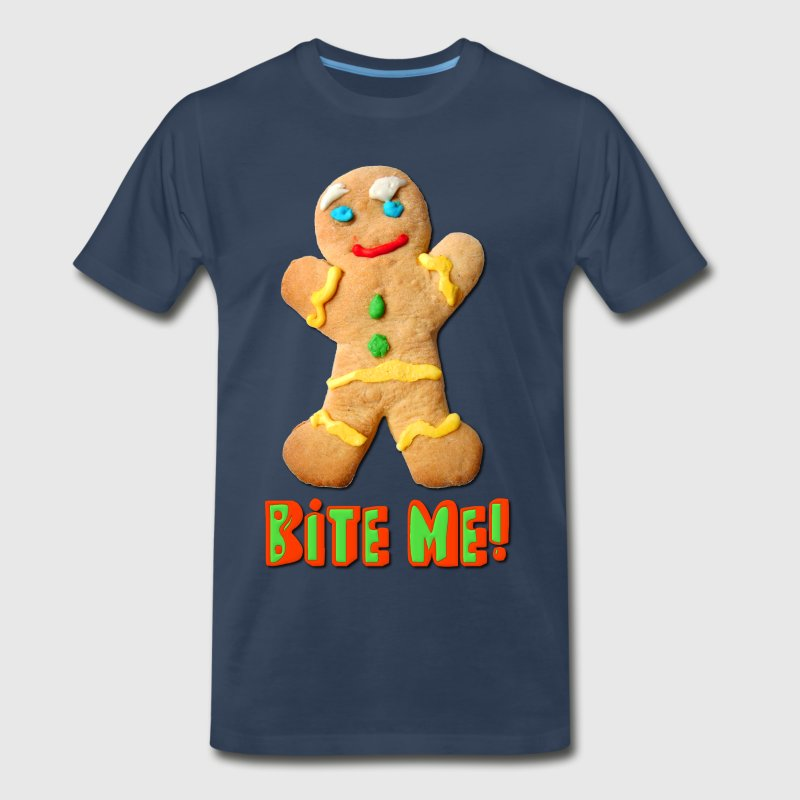 Bite Me Gingerbread Man - Men's Premium T-Shirt