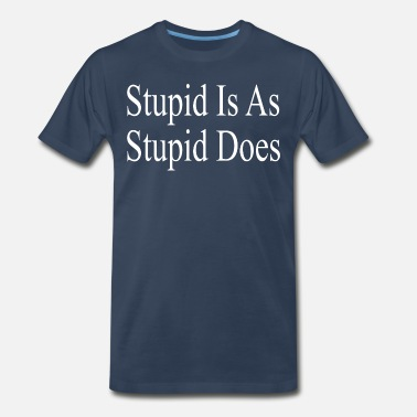 Forrest Gump Running Forrest Gump - Stupid Is As Stupid Does - Men's Premium T-Shirt