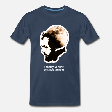 Hipster Kubrick Sent Me To The Moon - Men's Premium T-Shirt