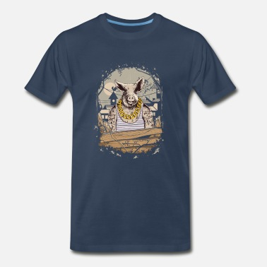 Farm Animal Cartoon Pig Farm Animal Gangster - Men's Premium T-Shirt