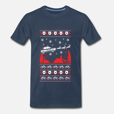 Police Station Police - Police officer in Christmas - Men's Premium T-Shirt