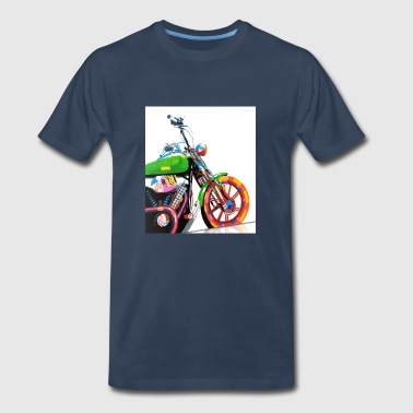 POP ART MOTO BIKE - Men's Premium T-Shirt
