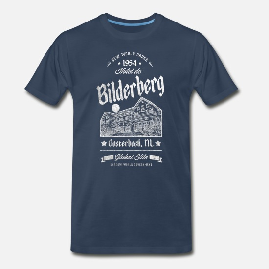 Bilderberg T-Shirts - Bilderberg Shadow Government - Men's Premium T-Shirt navy