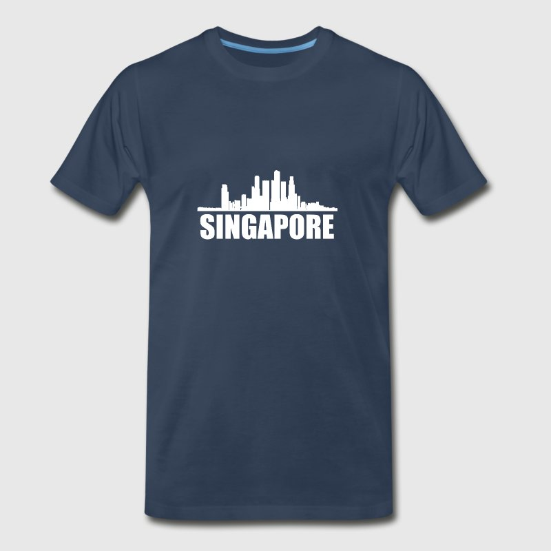 Singapore Skyline - Men's Premium T-Shirt