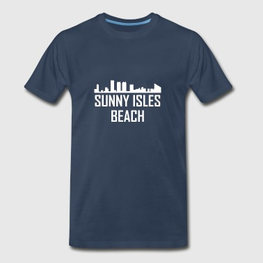 Sunny Isles Beach Florida City Skyline - Men's Premium T-Shirt
