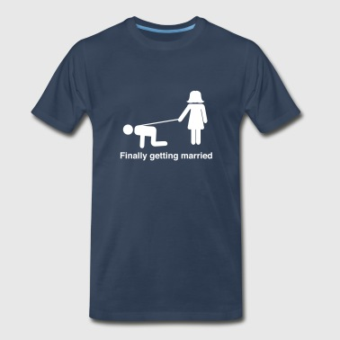 Finally Getting Married Leash - Men's Premium T-Shirt