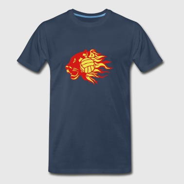 volleyball panther fire flame logo - Men's Premium T-Shirt