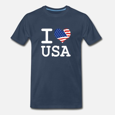 I Love Usa i love USA - Men's Premium T-Shirt