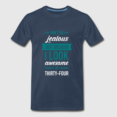 Awesome At Thirty-Four - Men's Premium T-Shirt