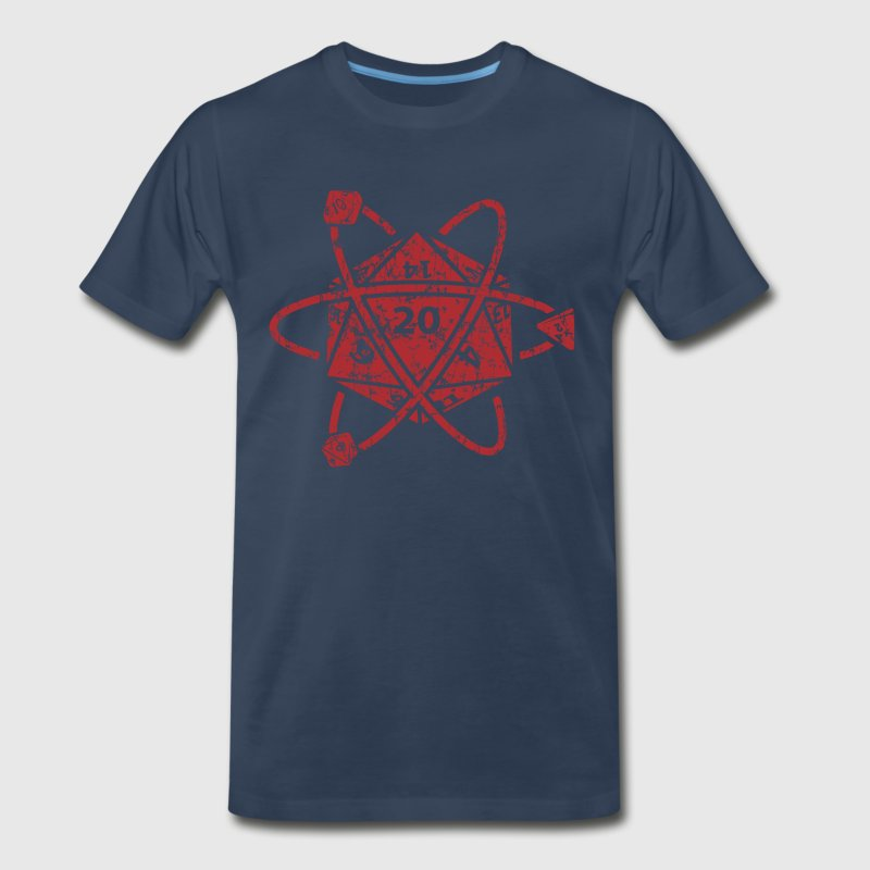 D20 Atom Dungeons apparel - Men's Premium T-Shirt