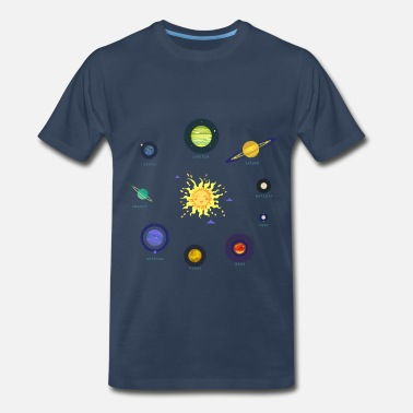 Planet Jupiter all the planets - Men's Premium T-Shirt