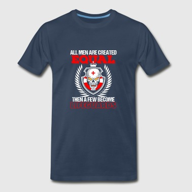 All Men Are Created Equal A Few Become Lifeguards - Men's Premium T-Shirt