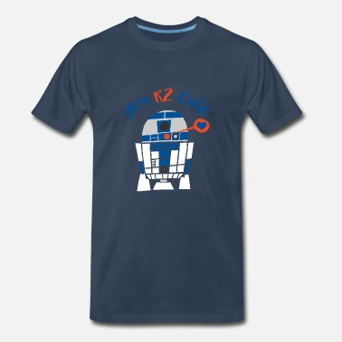 D2 Star Wars R2-D2 Too Cute Valentine's Day Premium T-Shirts - Men's Premium T-Shirt