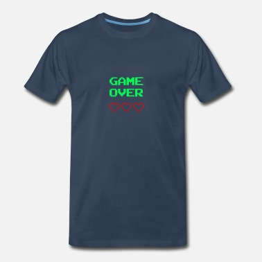 Gaming Jokes Game Over - Men's Premium T-Shirt