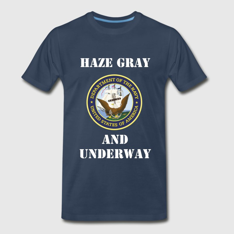 US Navy Don't Give Up The Ship Shirt - Men's Premium T-Shirt
