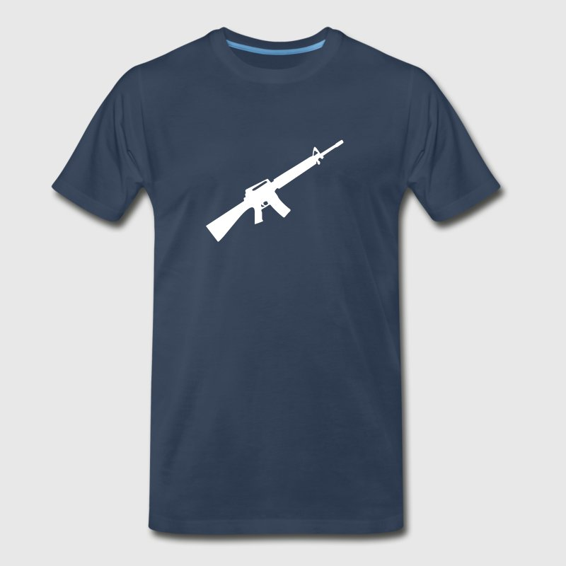 M16 M4 Rifle Gun Weapon machine - Men's Premium T-Shirt