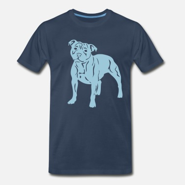 Staffie Dog staffbulliesweet - Men's Premium T-Shirt