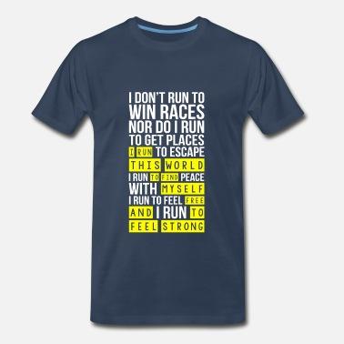 b1b502c00 I run this world to find myself free - Men's Premium T-Shirt