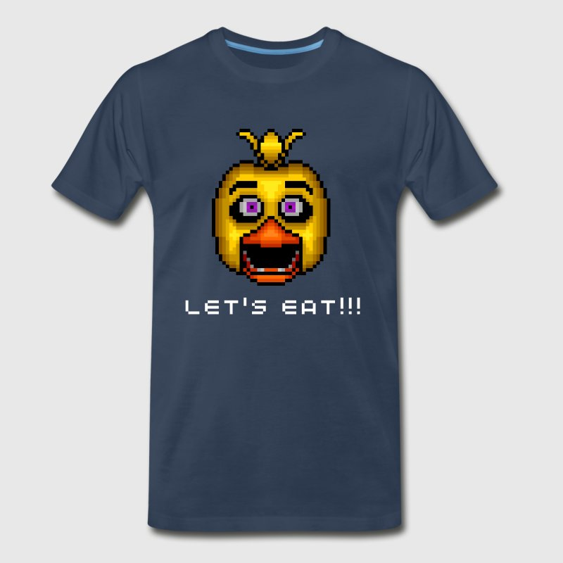 Five Nights at Freddy's Chica Pixel Art - Men's Premium T-Shirt