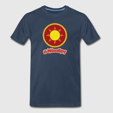 Golden Zephyr Explorer Badge - Men's Premium T-Shirt