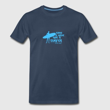 Surf Board Surfer Australia Save A Wave - Men's Premium T-Shirt