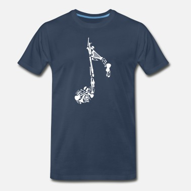 Musical Instrument Notes of musical instruments  - Men's Premium T-Shirt