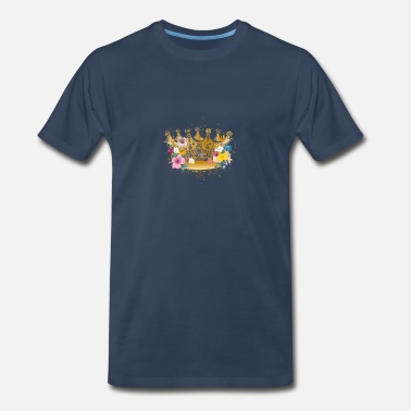 Golden Crown Golden crown with flowers - Men's Premium T-Shirt