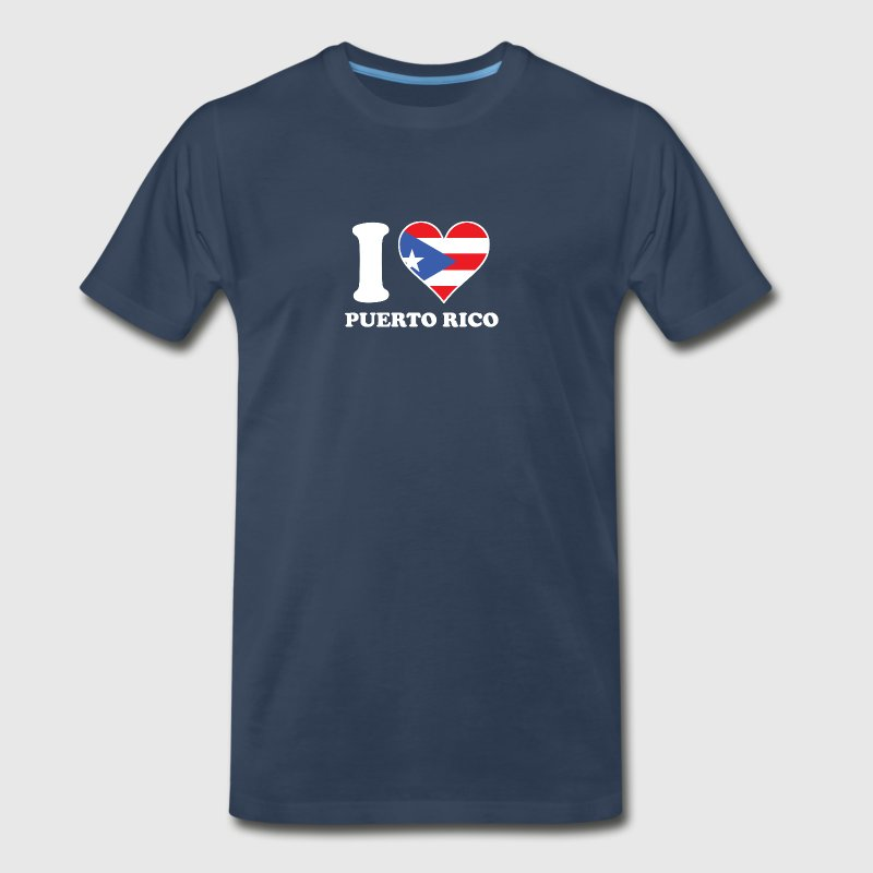 I Love Puerto Rico Puerto Rican Flag Heart - Men's Premium T-Shirt