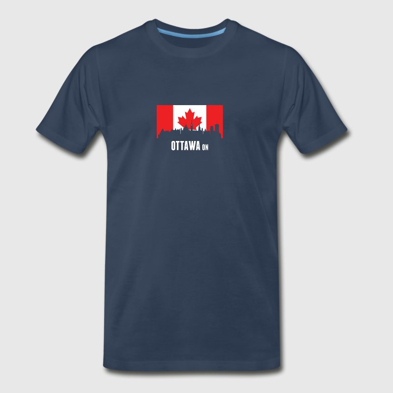 Canadian Flag Ottawa Skyline - Men's Premium T-Shirt