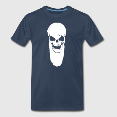 Skull with beard - Men's Premium T-Shirt