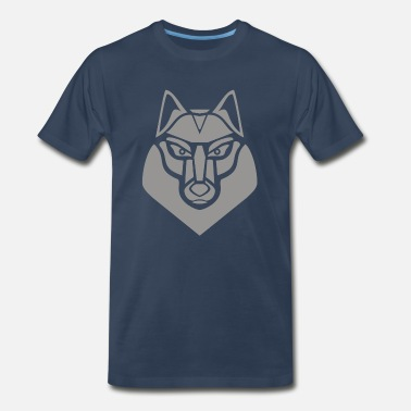 Stylized Wolf Gray Wolf - Men's Premium T-Shirt